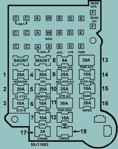 1995 chevy g20 van fuse box diagram manual 1995 chevy